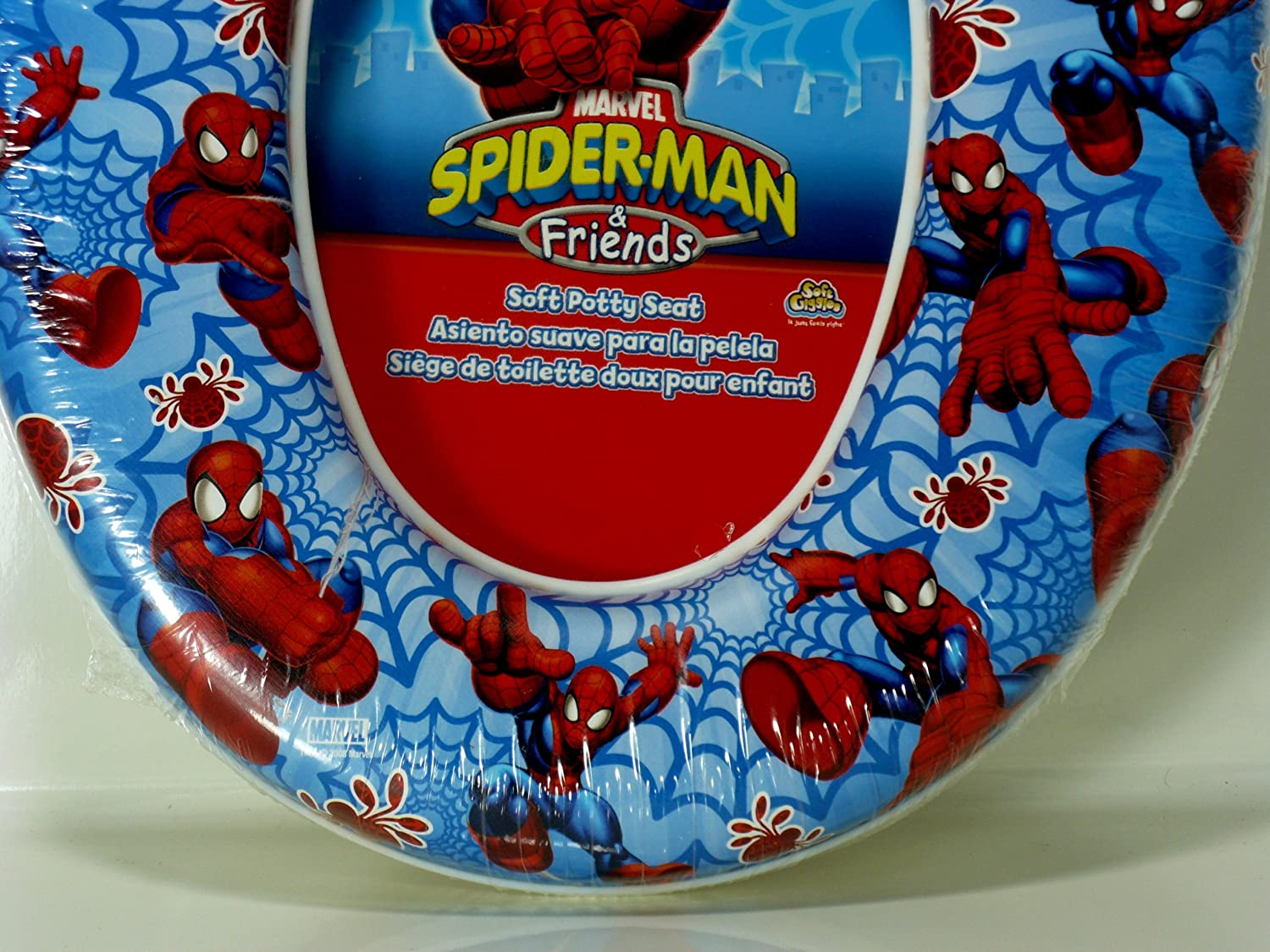 Amazon.com : Spiderman & Friends Soft Potty Seat : Toilet Training Seat Covers : Baby