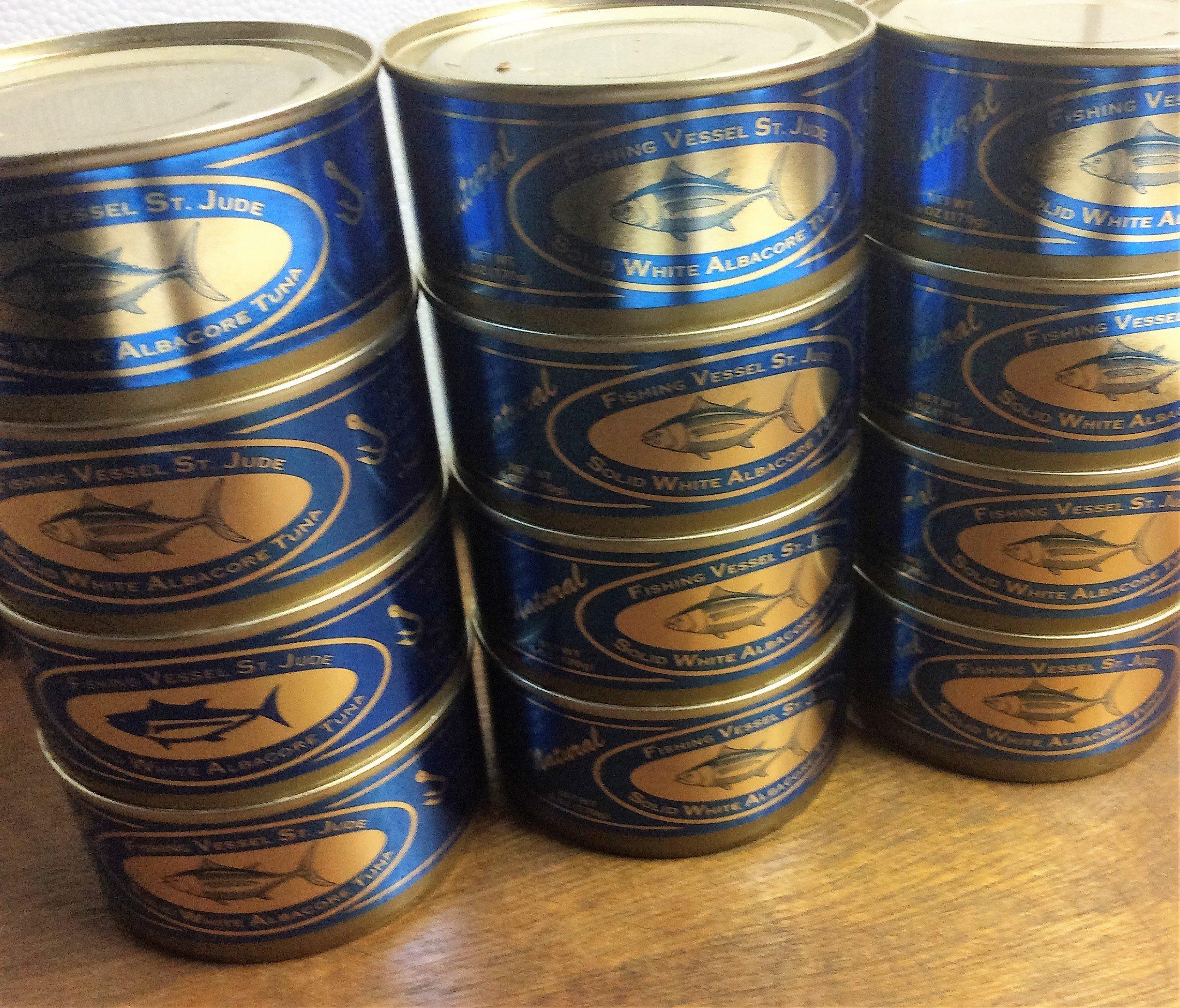 St. Jude No Salt Canned Tuna 12 6 oz. cans