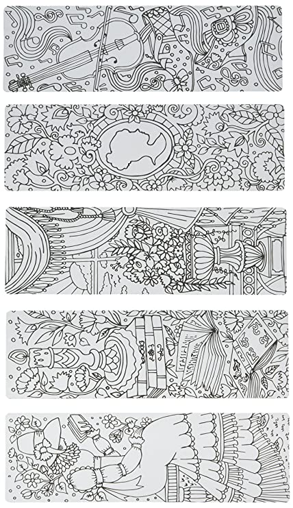 Amazon.com : Re-marks 6814 Coloring Bookmarks (19999) : Office Products