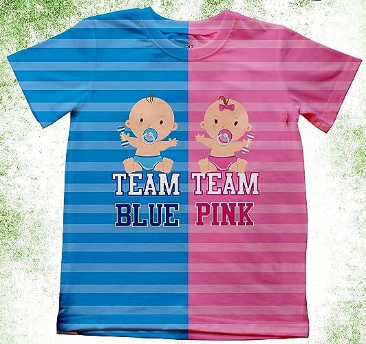12f976ec24614 Amazon.com: Gender Reveal Personalized Shirt, Team girls or boy, Gender  Team Reveal Shirts, Team Boy or Team Girl, Blue or pink, Maternity Shirts:  Handmade