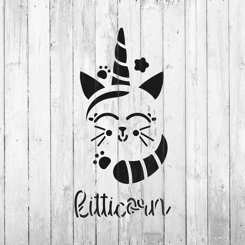 Plantilla de unicornio de gato – Plantillas reutilizables para pintar – Crea DIY gato unicornio decoración del hogar: Amazon.es: Juguetes y juegos