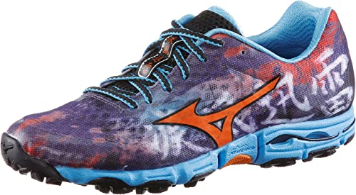 Grey White Mizuno Womens Wave Hayate 6 Trail Running Shoes Trainers Sneakers