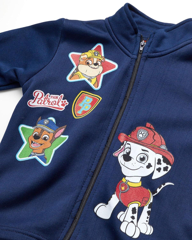 Nickelodeon Boys Paw Patrol 3-Piece Jogger Set Jogger and T-Shirt Fleece Zip Jacket