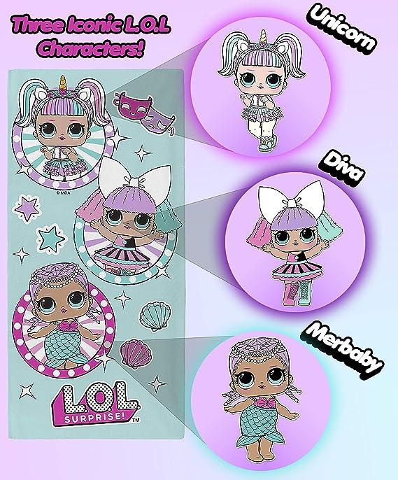 Baño L O L Surprise Toalla De Playa Para Niña Toallas De Baño Para Niñas Lol Dolls Unicorn Diva Merbaby Accesorios Vacaciones Hogar Y Cocina Brandknewmag Com