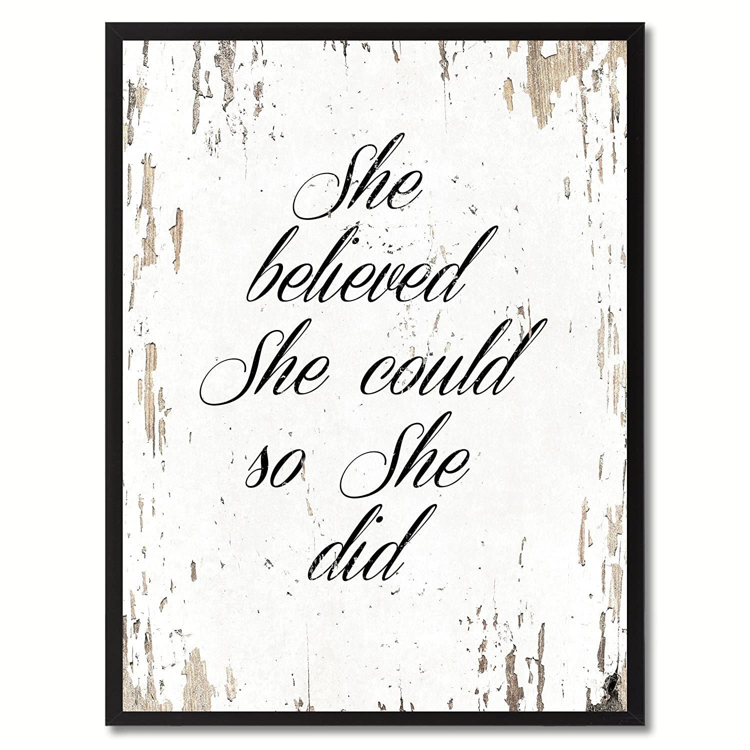 Amazoncom She Believed She Could So She Did Quote Saying Canvas