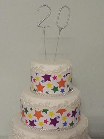 Sparkler Sparkling Number Birthday Cake Candles Age Aged 20 20th
