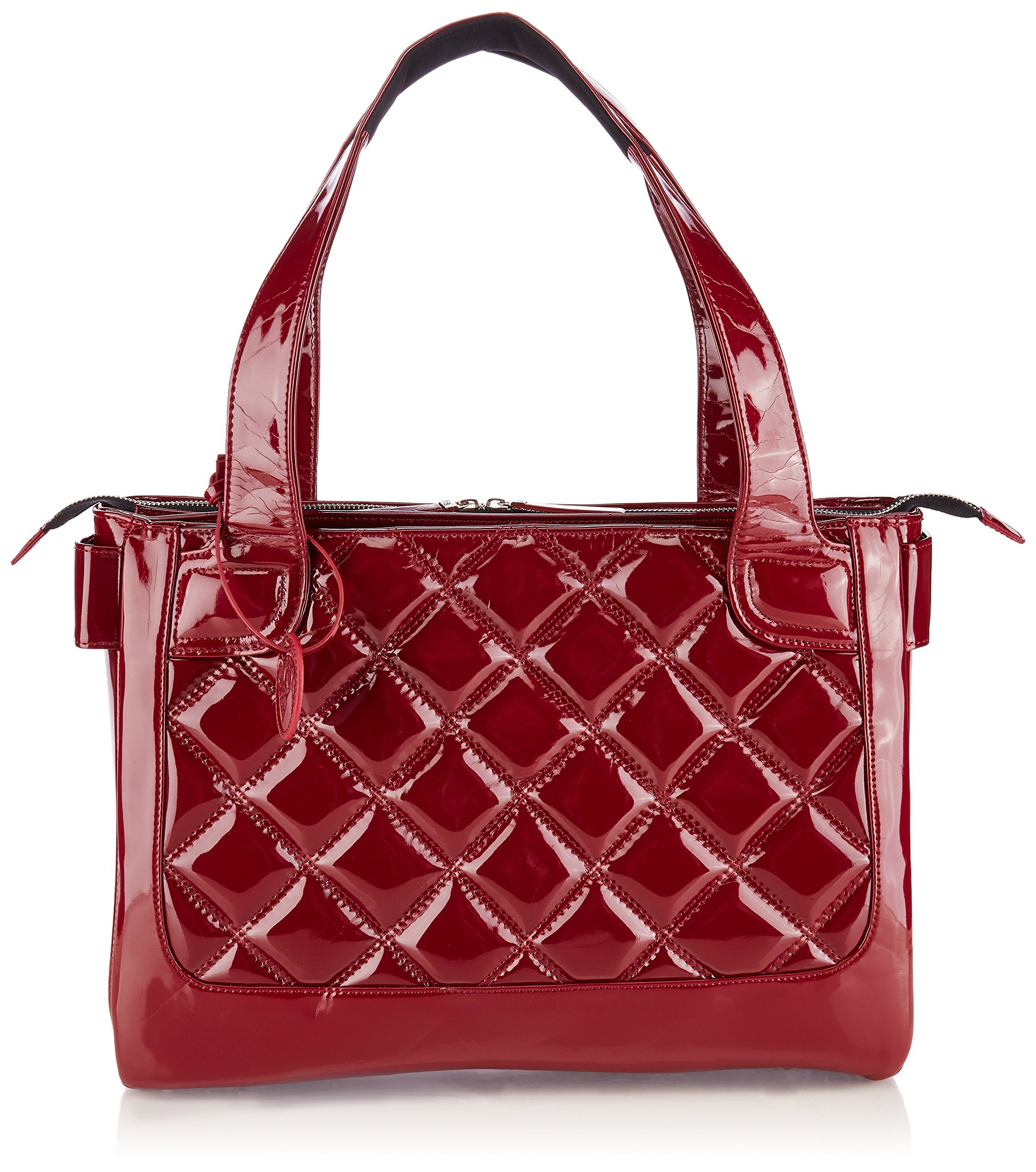 Fabrique 183248000893 WIB Women's Vanity Scarlet Notebook Tote with Black Lining, Fits Upto 16.1 Computer