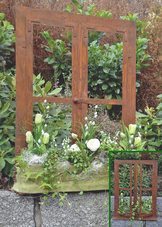 Edelrost Metall Fenster, Trendige Deko Ideen Für Den Garten
