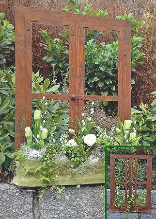 Garten Deko Ideen edelrost metall fenster trendige deko ideen für den garten amazon