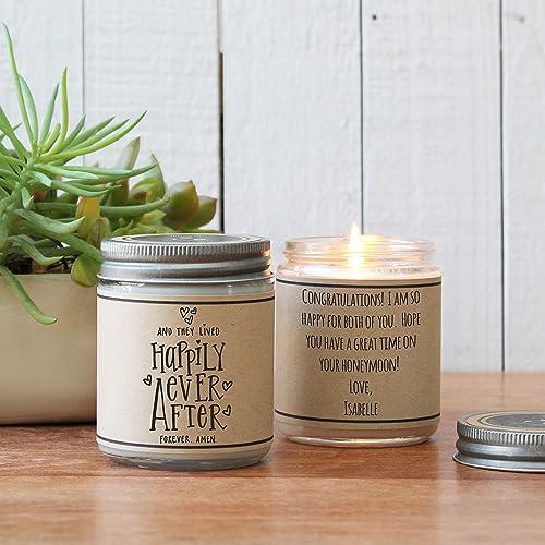 amazon com happily ever after candle wedding gift handmade