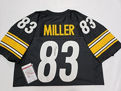 28adf622348 Image Unavailable. Image not available for. Color: Heath Miller Signed Steelers  Jersey