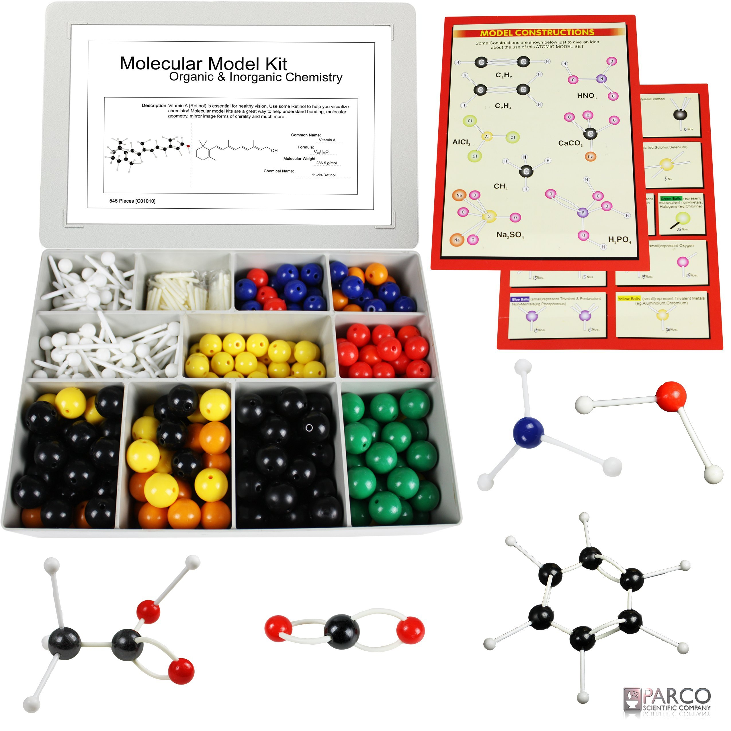 Vision Scientific Large 545 Pieces Structural Molecular Model Kit