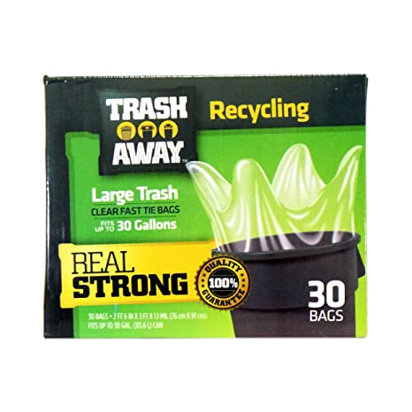 Amazon.com: Bolsas de reciclaje Trash Away., Transparente ...