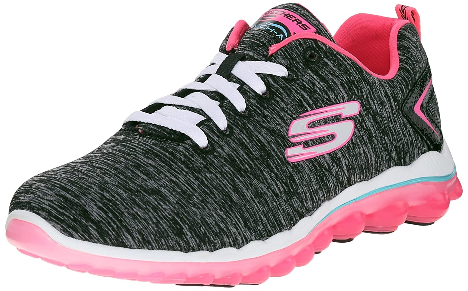 Skechers Sport Women's Skech Air Run High Fashion Sneaker B013DNEOVG 7.5 B(M) US|Black/Hot Pink