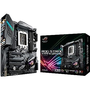 Asus ROG Strix X399-E Gaming Motherboard, E-ATX, AMD Ryzen Threadripper TR4, Chipset X399, DDR4, M.2, U.2, HEDT, 802.11AC WiFi, USB 3.1 Gen2, Aura Sync, RGB Lighting