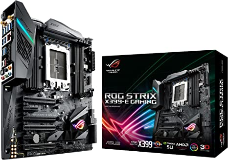 ASUS ROG STRIX X399-E GAMING AMD Ryzen Threadripper TR4 DDR4 M.2 U.2 X399 EATX HEDT Motherboard with onboard 802.11AC WiFi, USB 3.1 Gen2, and AURA ...