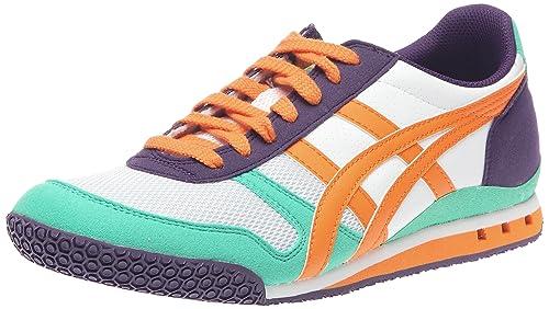 Asics Onitsuka Tiger Ultimate 81-zapatillas deportivas para hombre, Verde (Vert/orange/blanc/violet), 41,5: Amazon.es: Zapatos y complementos