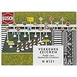 Busch Environnement - BUE8121 - Modélisme Ferroviaire - Panneau de Signalisation Routière