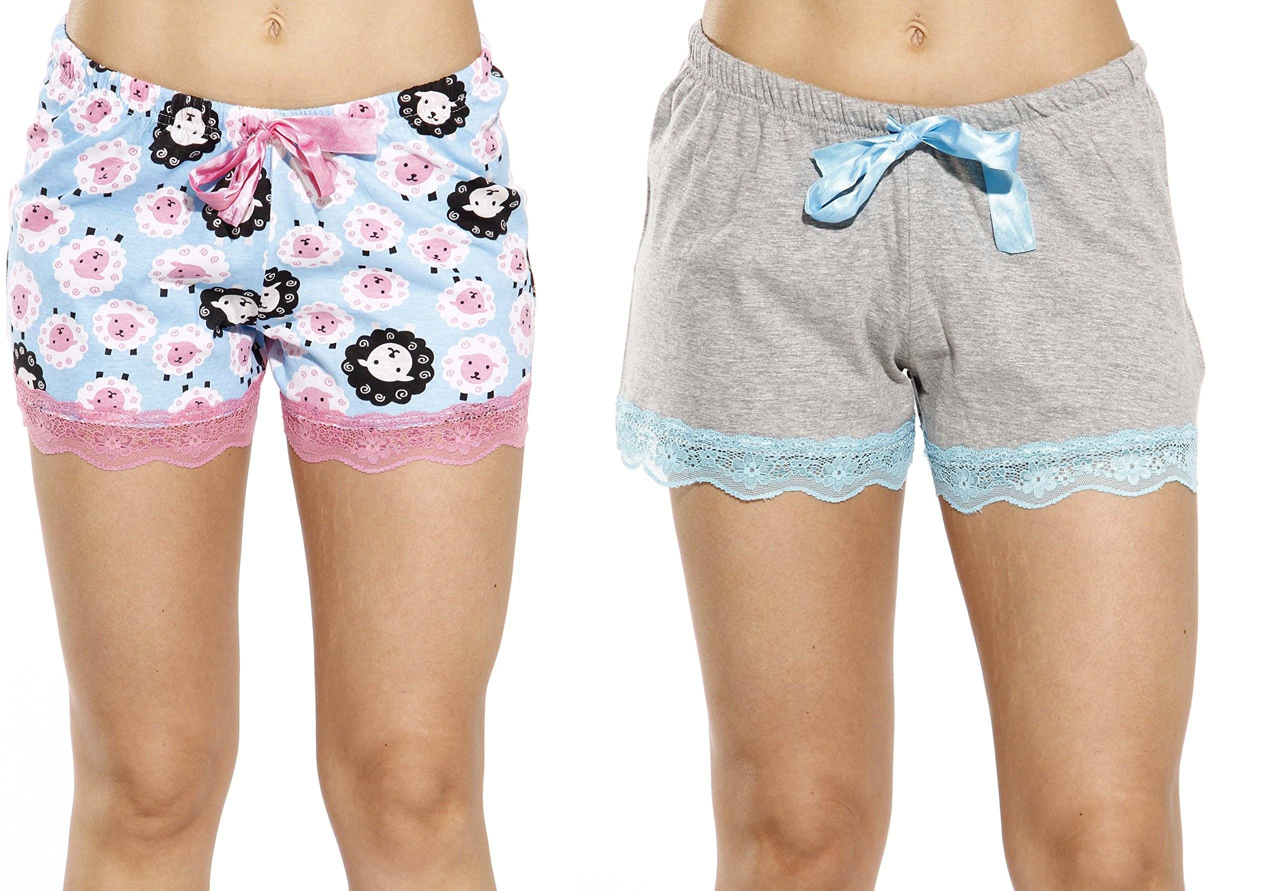 d27116adf6a Galleon - 6334-10056-M Just Love Womans Pajamas Shorts - PJs - Sleepwear ( Pack Of 2)