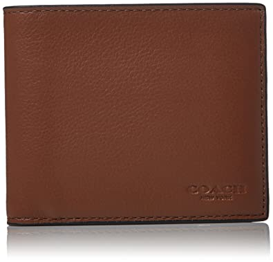 150ef98df3 Amazon.com: COACH Men's Leather 3-in-1 Wallet Set Dark Saddle Black One  Size: Shoes