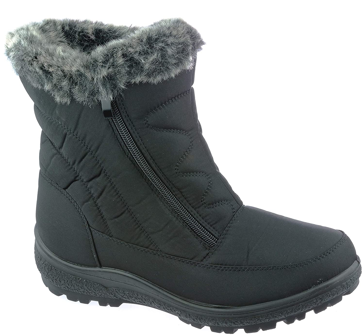 wolfsburg7 Womens Winter Boots Mid-Cap Fur Lining Cold-Weather Shoes