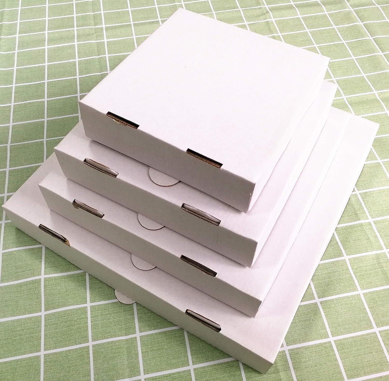 Caja para pizza corrugada blanca de 8 pulgadas (10 piezas): Amazon ...