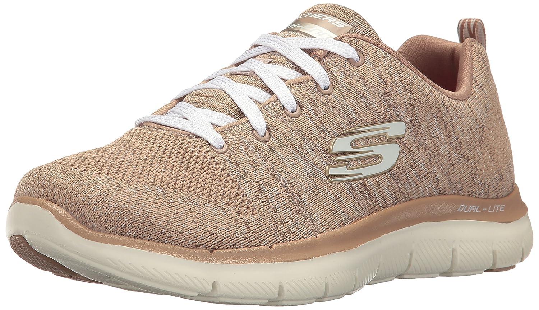 Skechers Women's Flex Appeal 2.0 Sneaker B01N3YPF0F 8.5 B(M) US|Taupe Natural