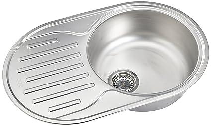 Franke lavello da cucina con una vasca in acciaio inox lino di Polar ...