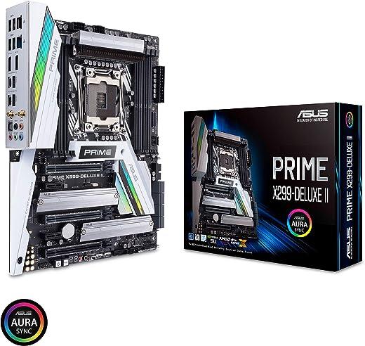 ASUS Prime X299-Deluxe II X299 Motherboard LGA2066 (Intel® Core™ X-Series) ATX DDR4 M.2 U.2 Thunderbolt 3 USB 3.1 with Dual Gigabit LAN and 802.11AC WiFi