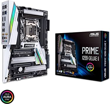 ASUS Prime X299-Deluxe II X299 Motherboard LGA2066 (Intel Core X-Series) ATX DDR4 M.2 U.2 Thunderbolt 3 USB 3.1 with Dual Gigabit LAN and 802.11AC ...