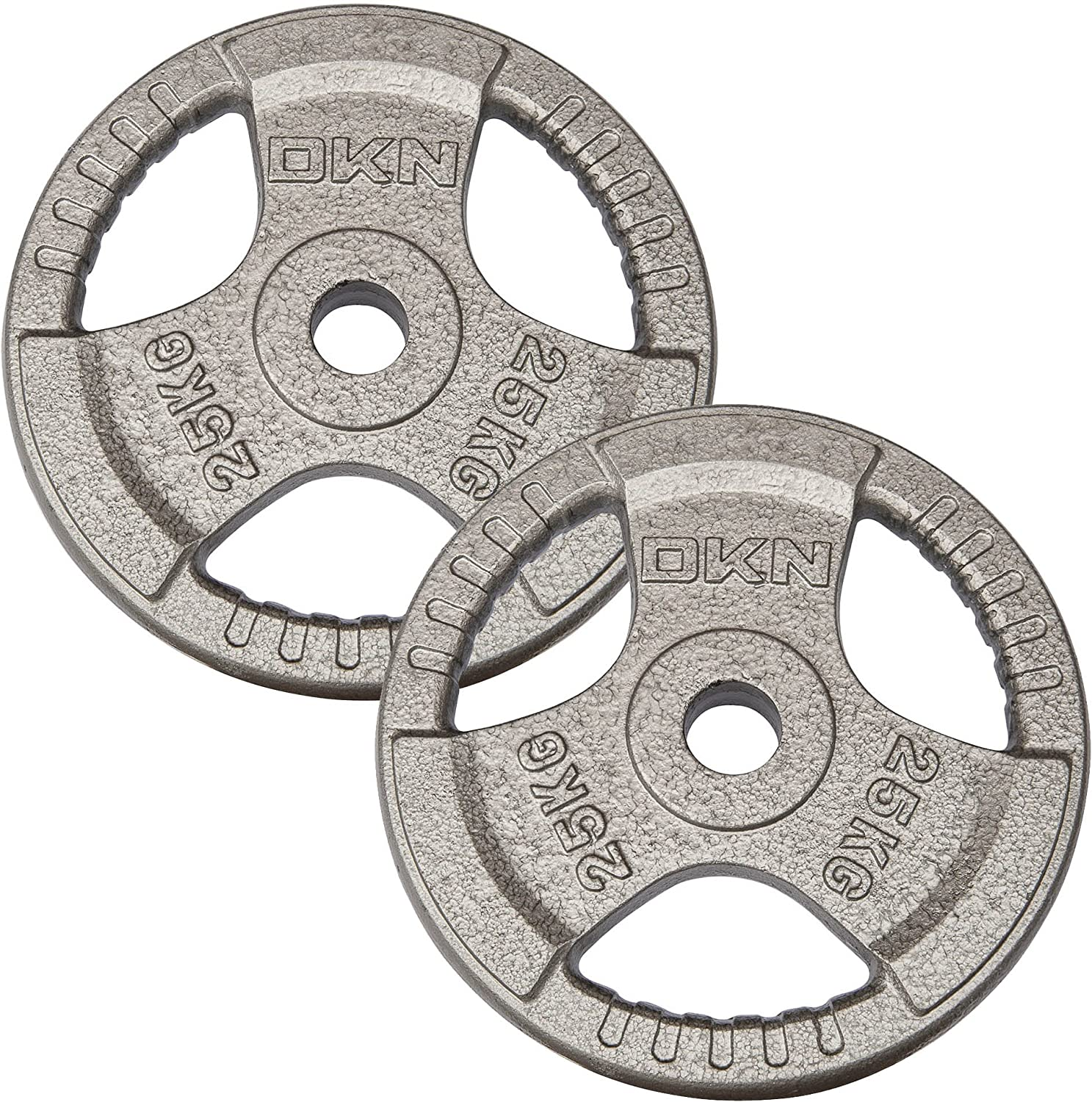 DKN Tri Grip Cast Iron Olympic Weight Plates