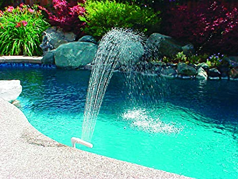 Amazon.com : Poolmaster 54507 Swimming Pool Waterfall Fountain ...