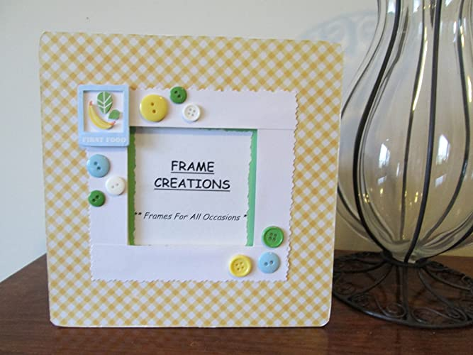 Amazon.com: 3.5 x 3.5 First Food Themed - Hand Decorated Picture ...