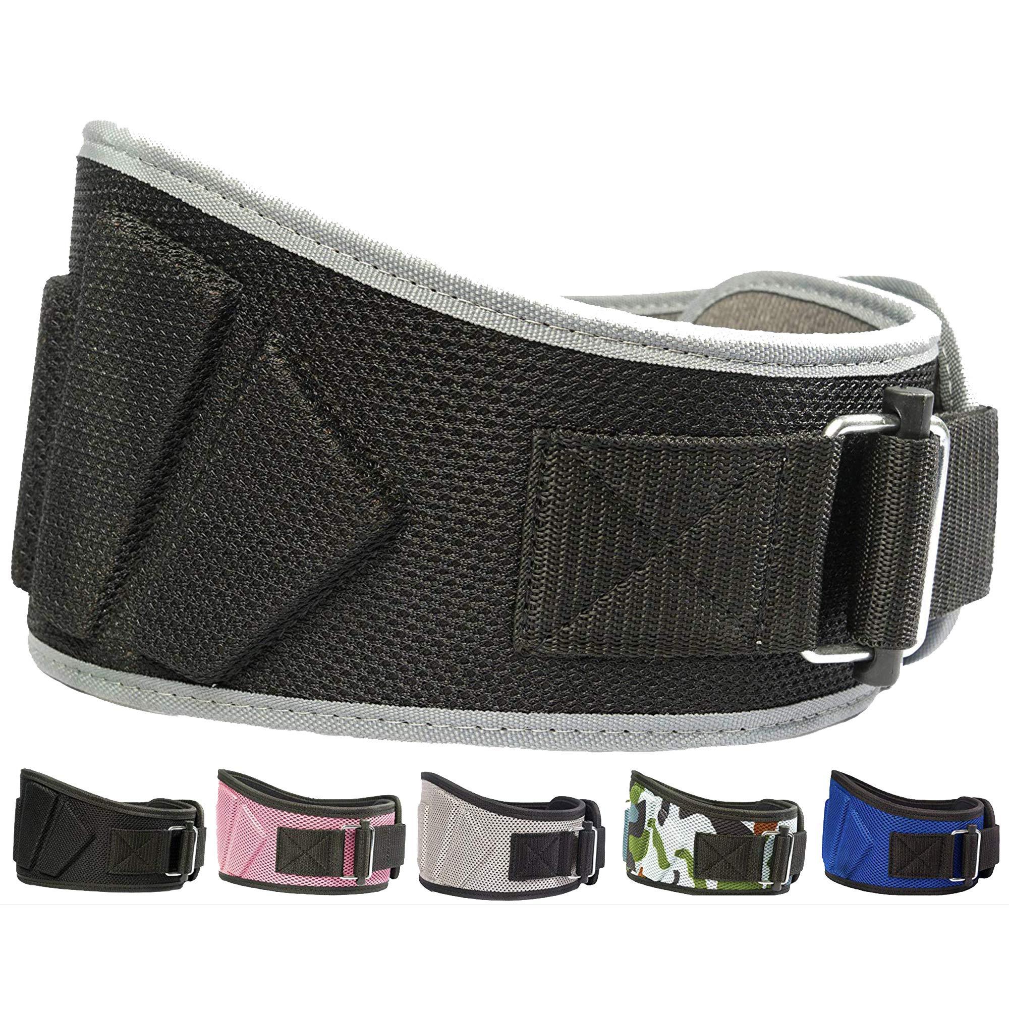 Fire Team Fit Lifting Belt, Gym Belt, Weight Lifting Belts, Weight Belts for Lifting (Black/Grey, 32'' - 38'' Around Navel, Medium)