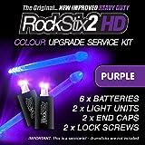 ROCKSTIX 2HD : Light up Drumsticks Heavy Duty Service / Upgrade Kit - Pair of DEEP PURPLE LED Pods, including batteries, end caps, screws. (3 batteries per unit) fits Standard Firestix & Other Brands.