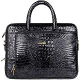 The Clownfish Crocodilan Laptop briefcase Unisex 10 Liters 15.6 inches Laptop Briefcase, Laptop Briefcase for Men, Laptop Bags for Men, Laptop Shoulder bag, Bags for for Women, Briefcase, Laptop Bags , Messenger Bags For Men, Office Bags, Macbook Bag, Macbook Pro Bag, (Black)
