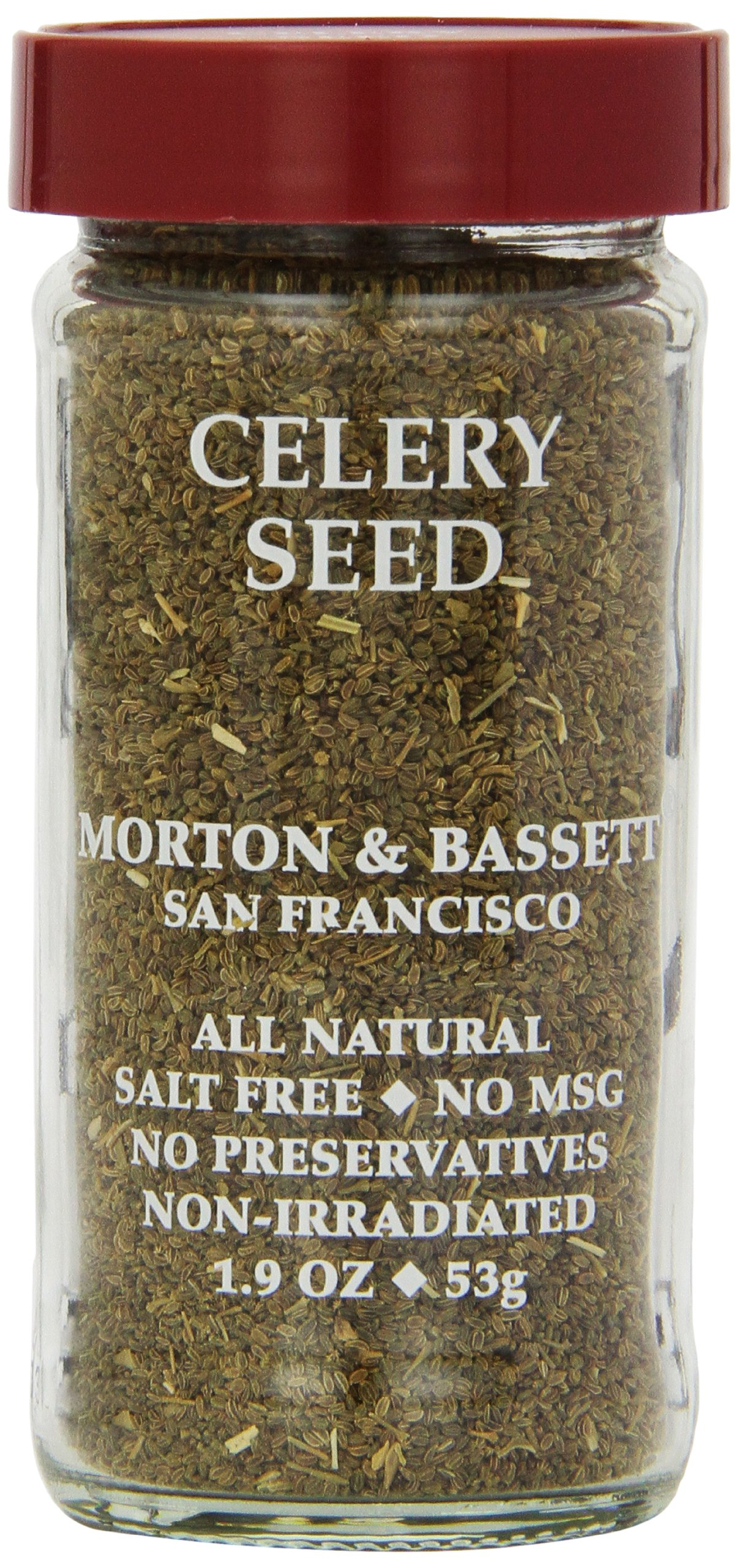 Morton & Bassett Celery Seed, 1.9-Ounce Jars (Pack of 3)