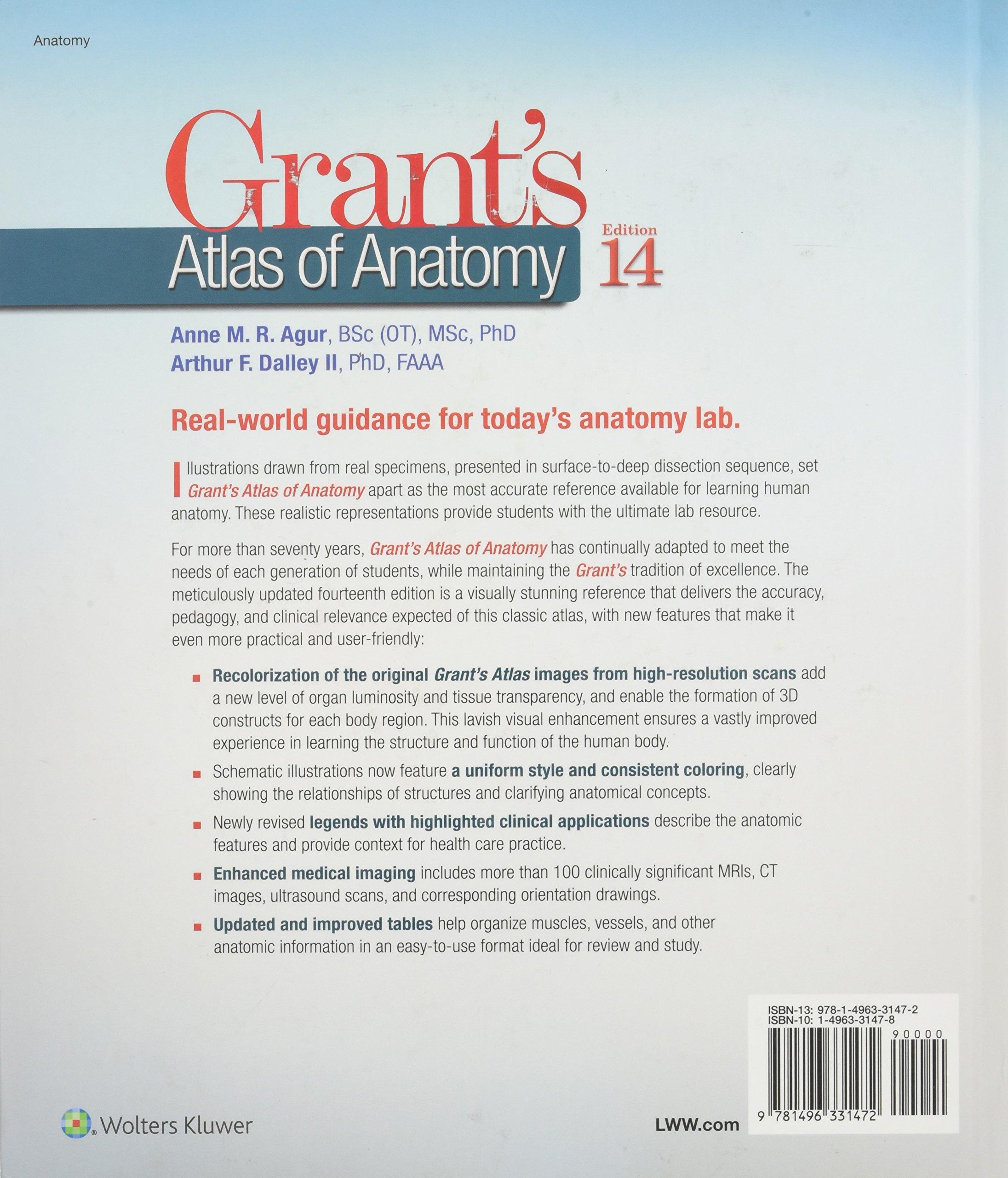 Grant\'s Atlas of Anatomy: Amazon.de: Anne M. R. Agur, Arthur F ...