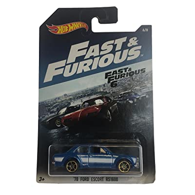 Hot Wheels 2020 FAST & FURIOUS 70 FORD ESCORT RS1600 RARE 6/8: Toys & Games