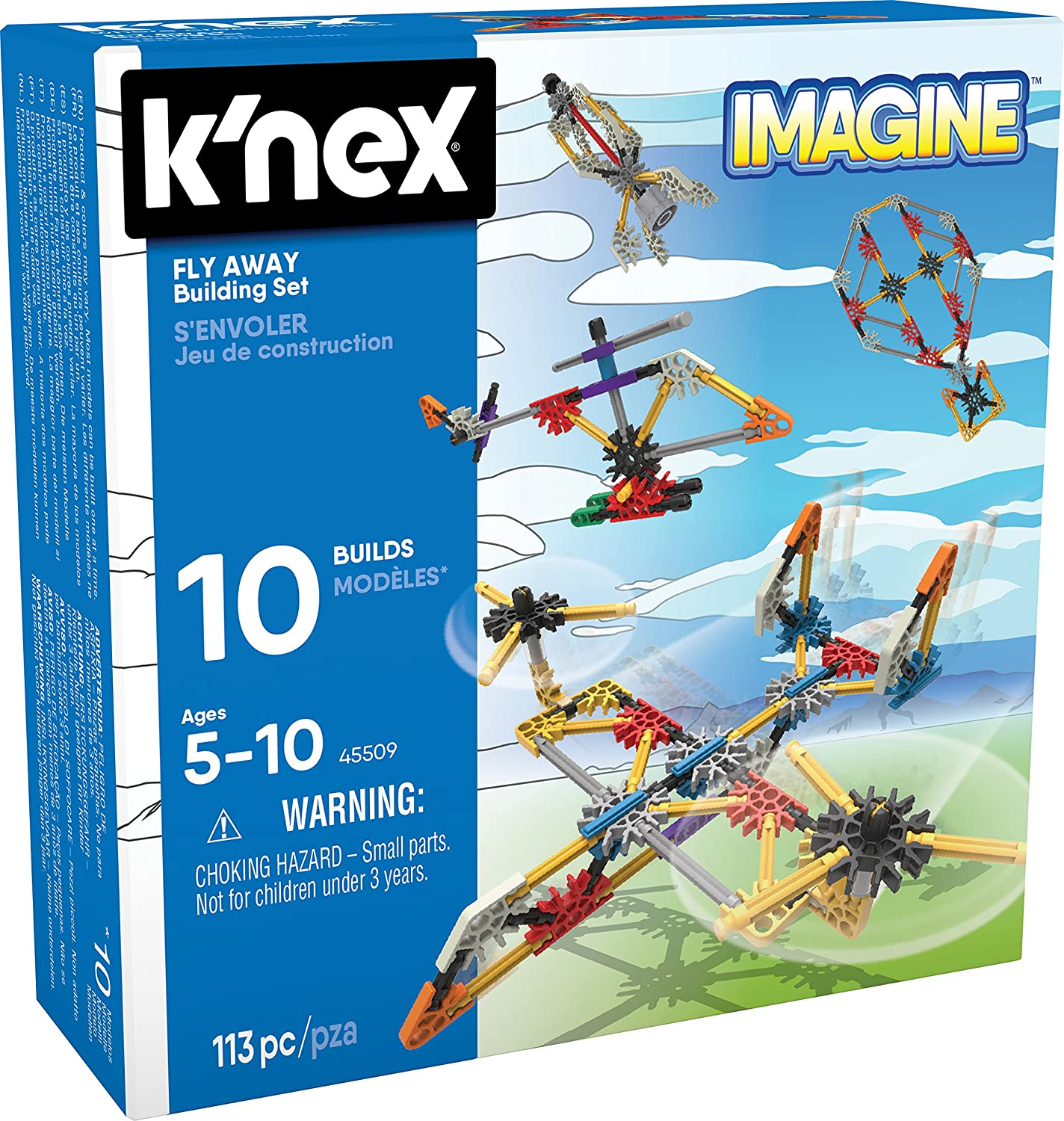 K/'NEX Imagine 113 pieces Ages 5+ Beginner Fun Fly Away Building Set
