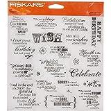 Fiskars 8x8 Inch Make A Wish Clear Stamps (01-005541)