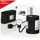 MDF® Calibra Aneroid Sphygmomanometer - Lifetime Calibration Warranty - Blood Pressure Monitor with Adult Sized Cuff and Carrying Case - Black (MDF808M-11)