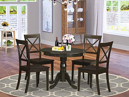 East-West Furniture Dining Room Table Set