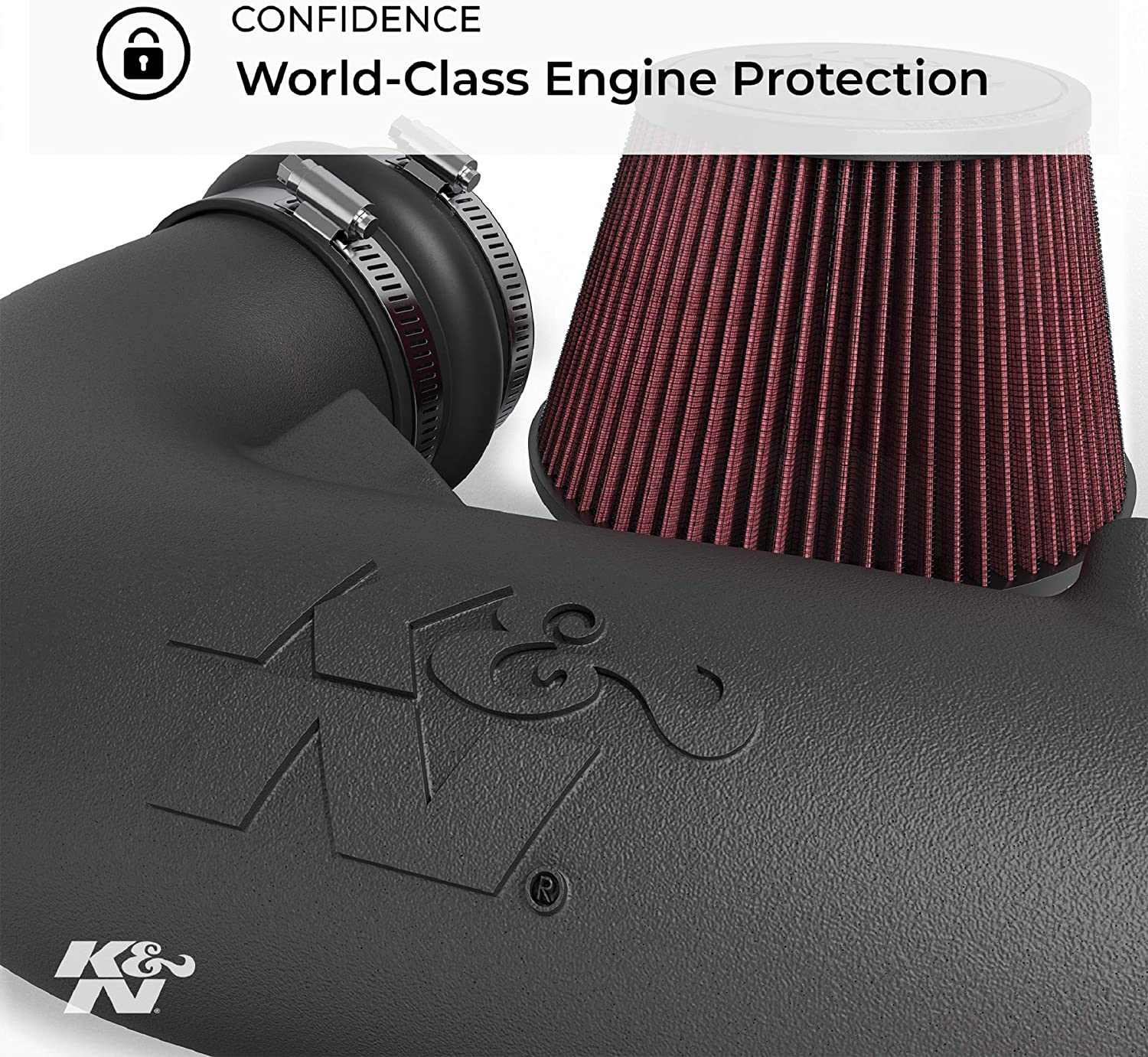 K/&N 57-0625 Washable and Reusable Car Performance Intake Kit