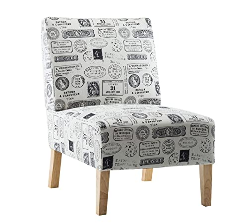 G-house Modern Fabric Accent Chair Living Room Armless Chair