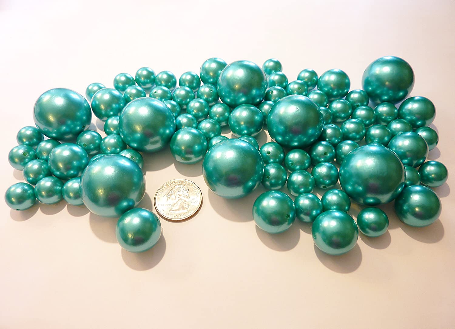 Amazon 80 jumbo assorted all turquoise blue pearlsteal amazon 80 jumbo assorted all turquoise blue pearlsteal blue pearls value pack vase fillers not including the transparent water gels for floating reviewsmspy