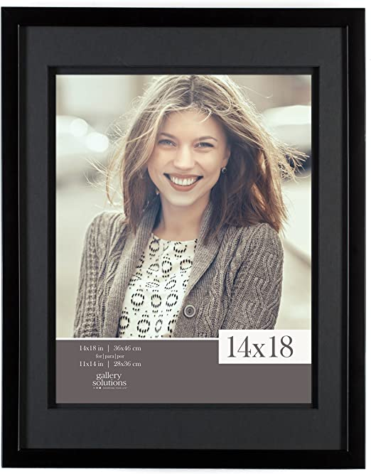 Details about  /14x18 picture frame matted for 11x14 photograph gold picture frame