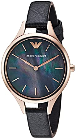 9c415208002f Image Unavailable. Image not available for. Color  Emporio Armani Women s  Dress Watch Stainless Steel Quartz ...