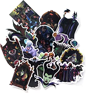 17 Pcs Maleficent Sticker for Kids DIY Luggage Laptop Skateboard Car Bicycle Phone Waterproof Sticker