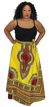 935c3ed5fb7 Amazon.com  African Planet Women s Maxi Length Dashiki Wrap Around ...